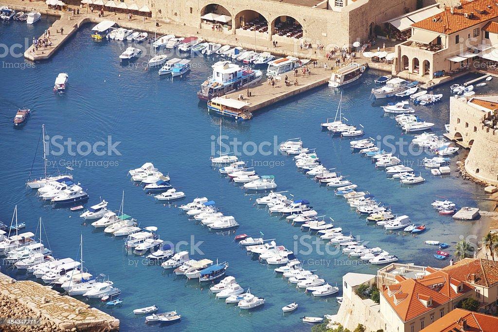Close shoot of Dubrovnik port stock photo