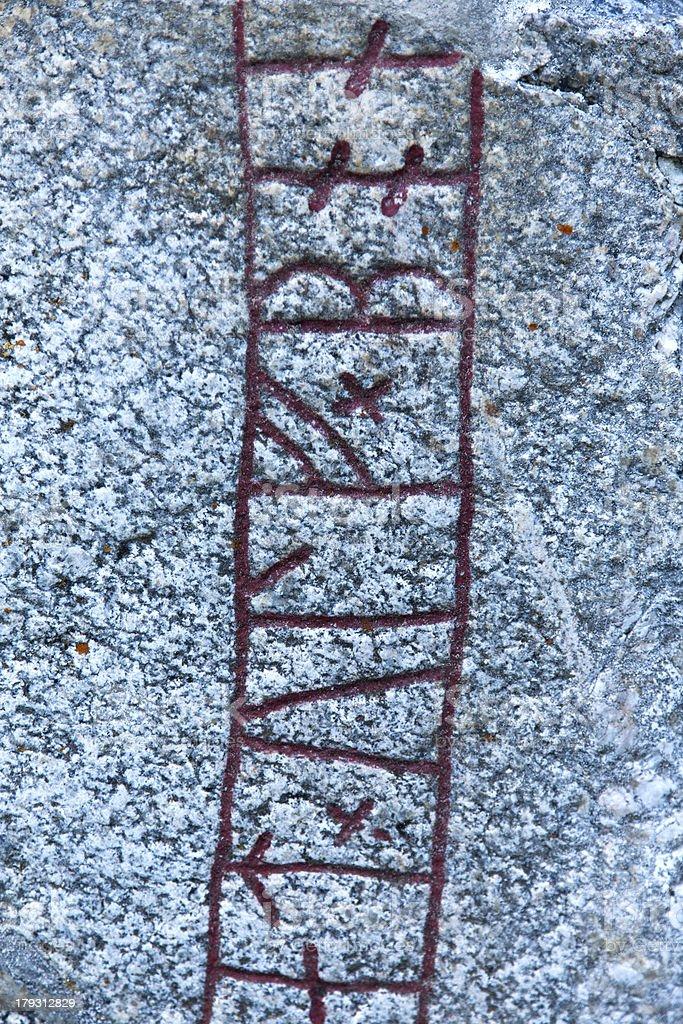 Close shot of a rune stone royalty-free stock photo