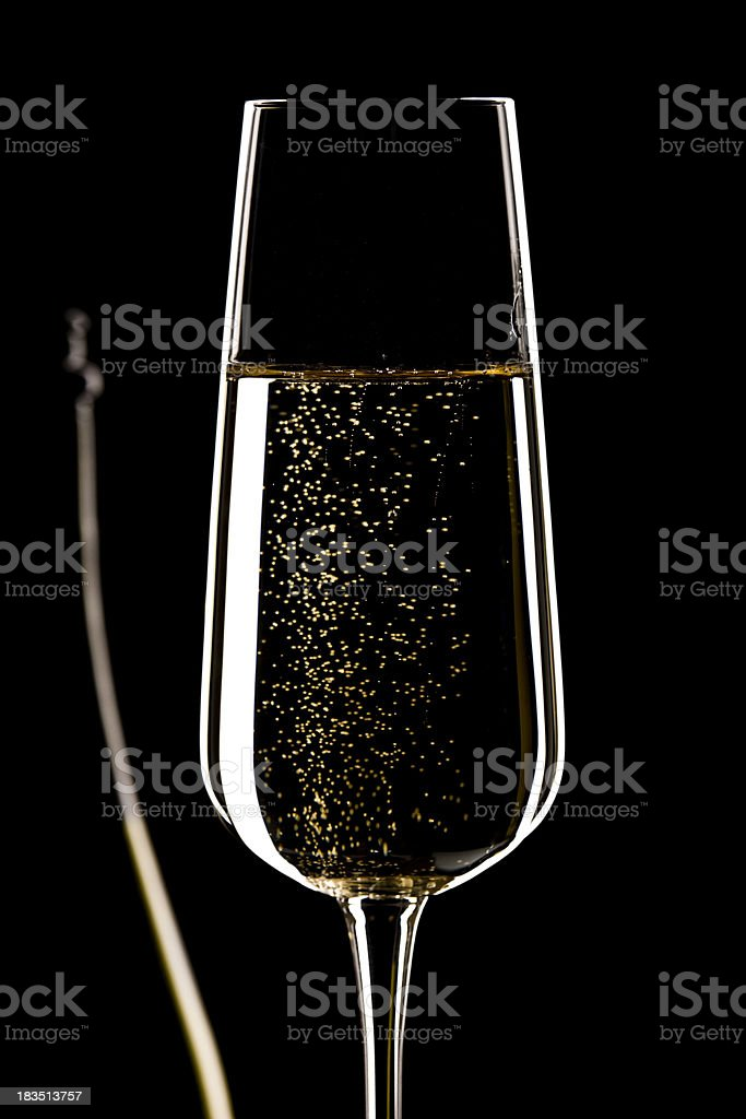Close To Glass And Bottle With Red Wine stock photo