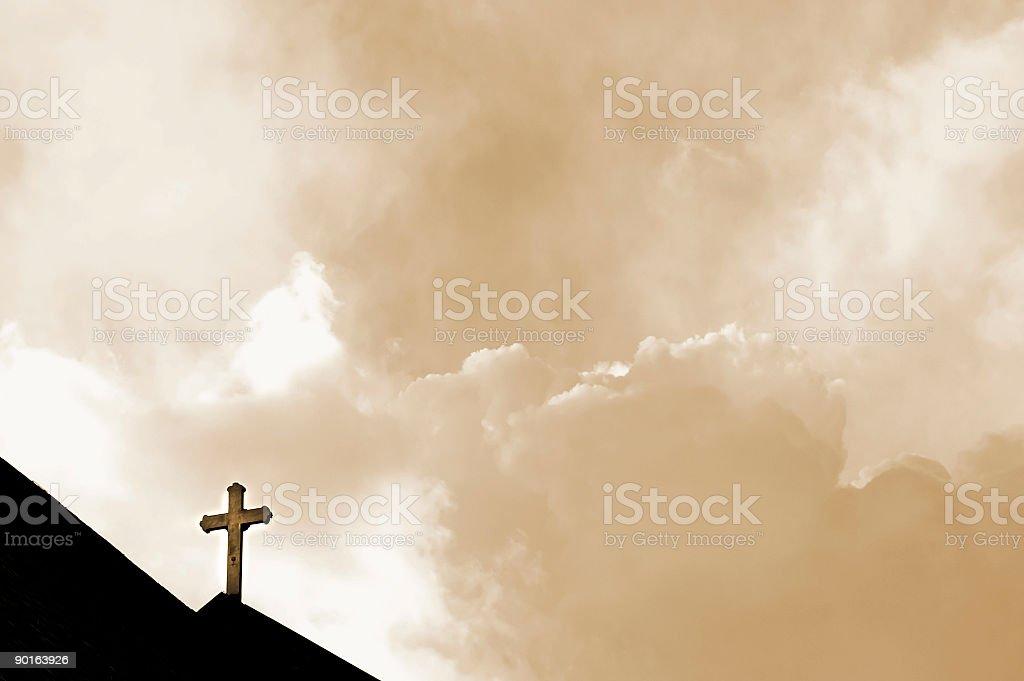 Close to Heaven sepia stock photo