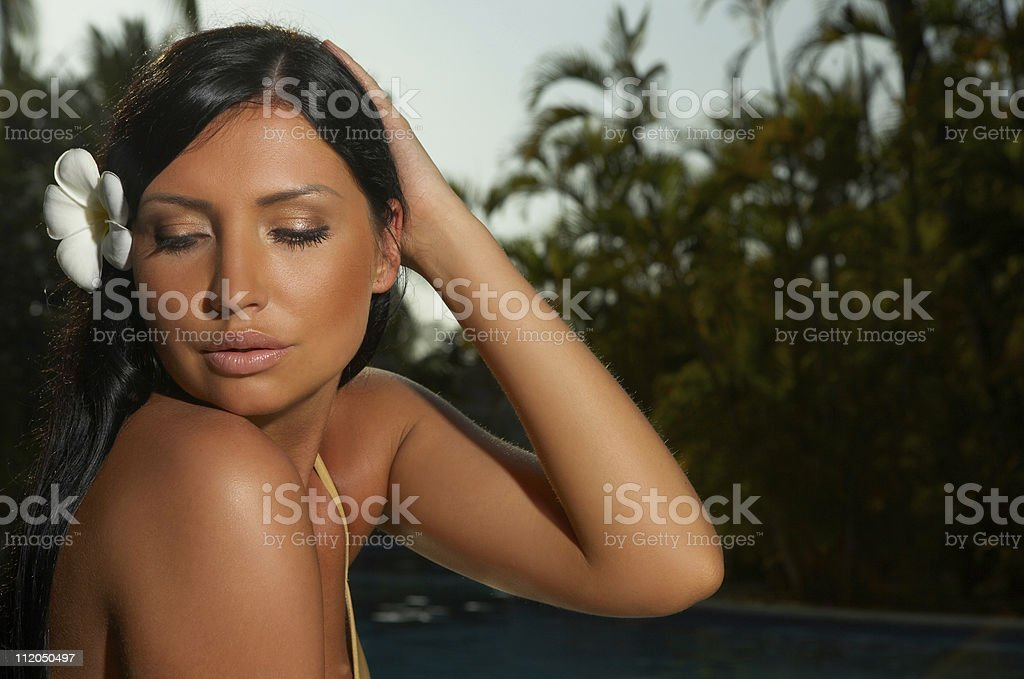 Close to pool royalty-free stock photo