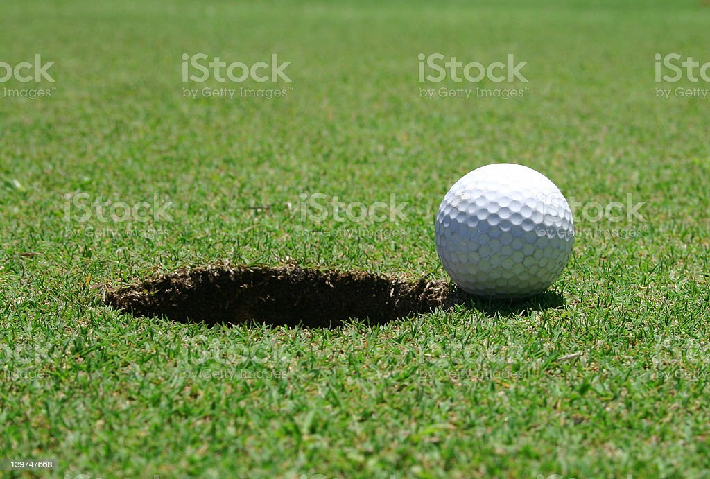Close to the hole royalty-free stock photo