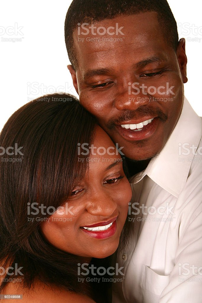 Close Up African American Couple royalty-free stock photo