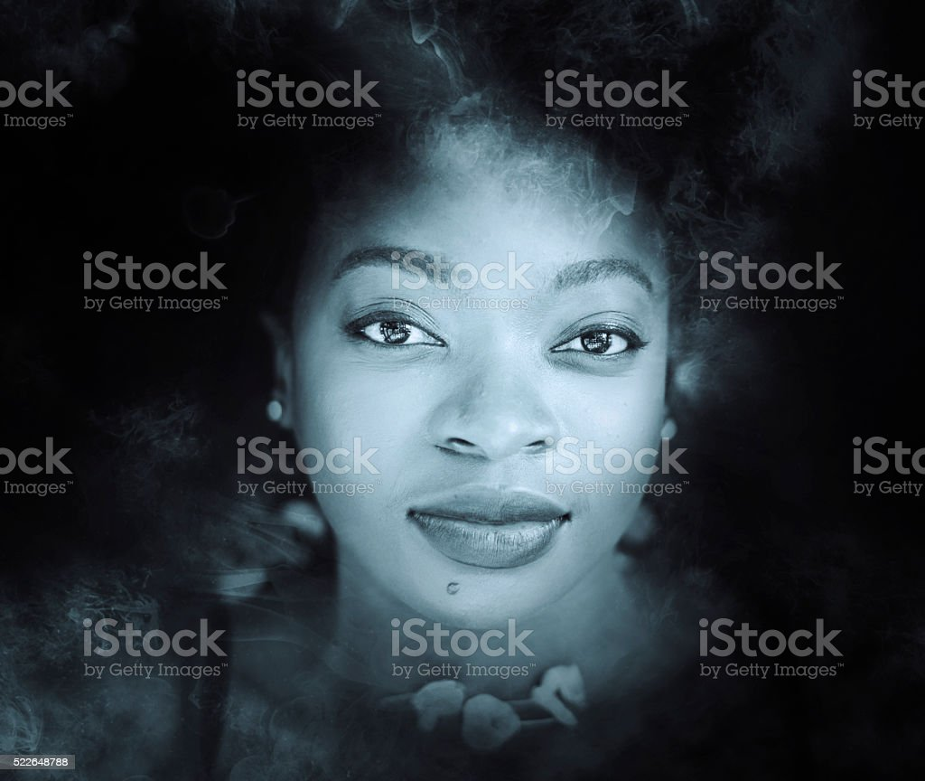 close up african woman stock photo
