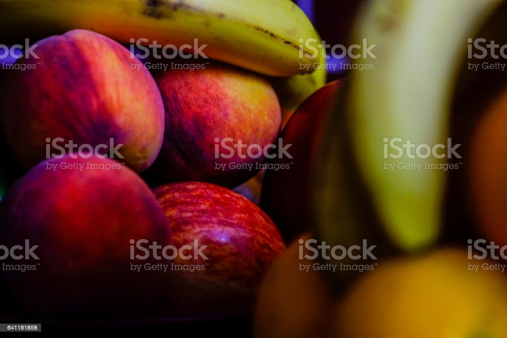 Close up assorted fruits stock photo