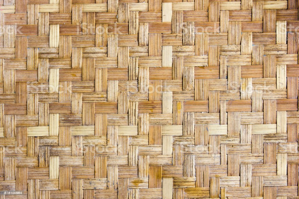 Close up background of Bamboo weave