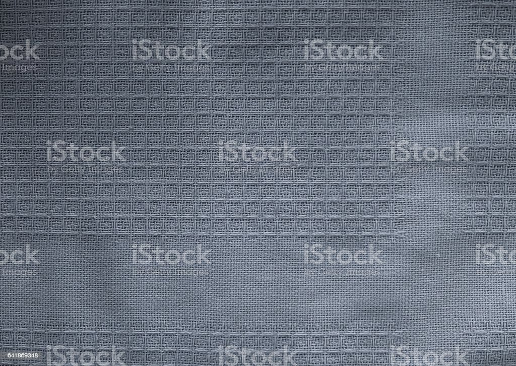 Close Up Background of Blue Textile Texture stock photo