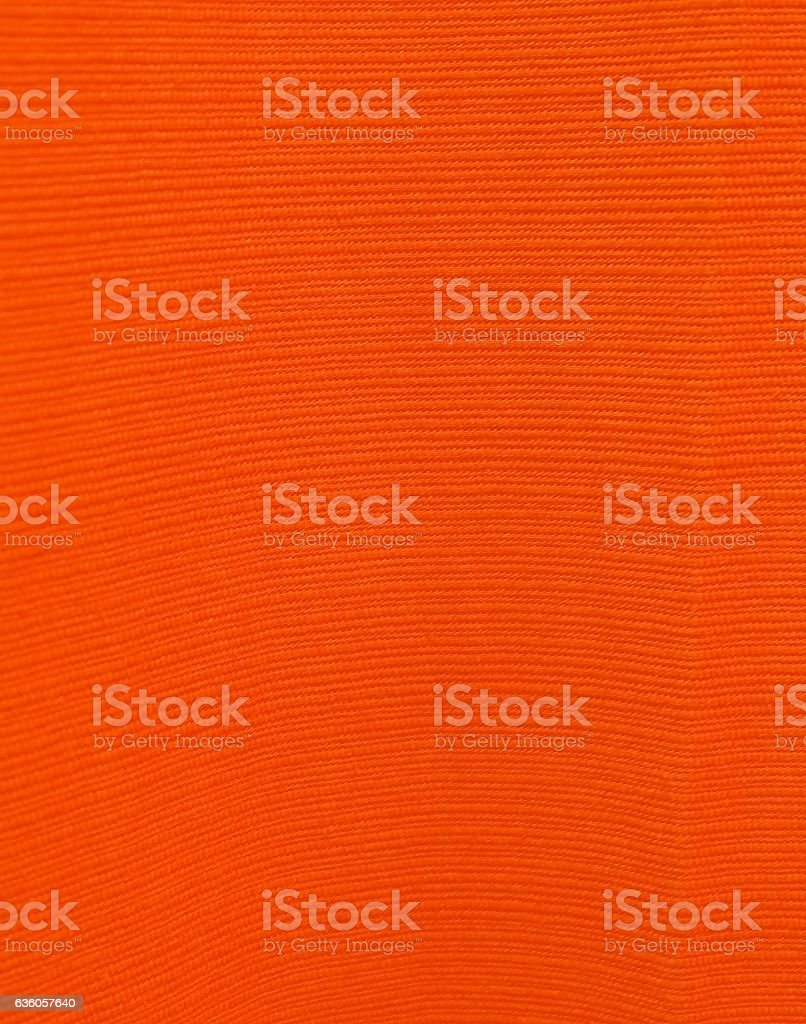 Close Up Background of Orange Textile Texture stock photo
