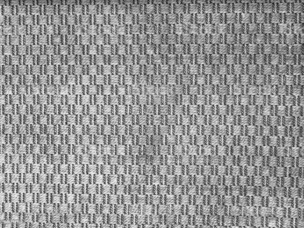 Close Up Background Pattern of Gray Weaving Textile stock photo