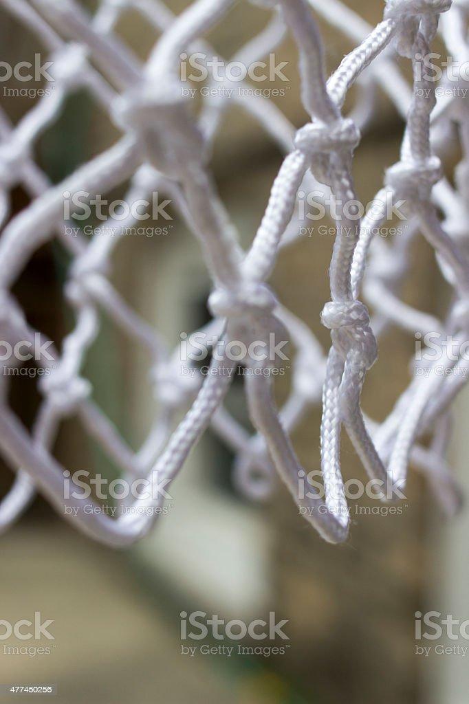 Close Up Basketball Net stock photo