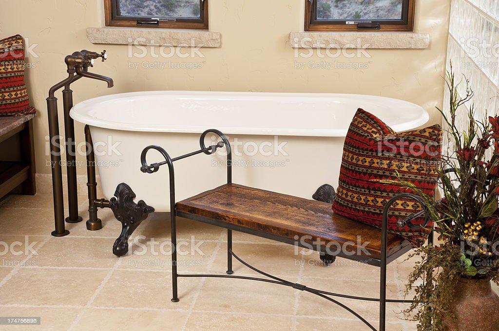 Close up bathtub stock photo