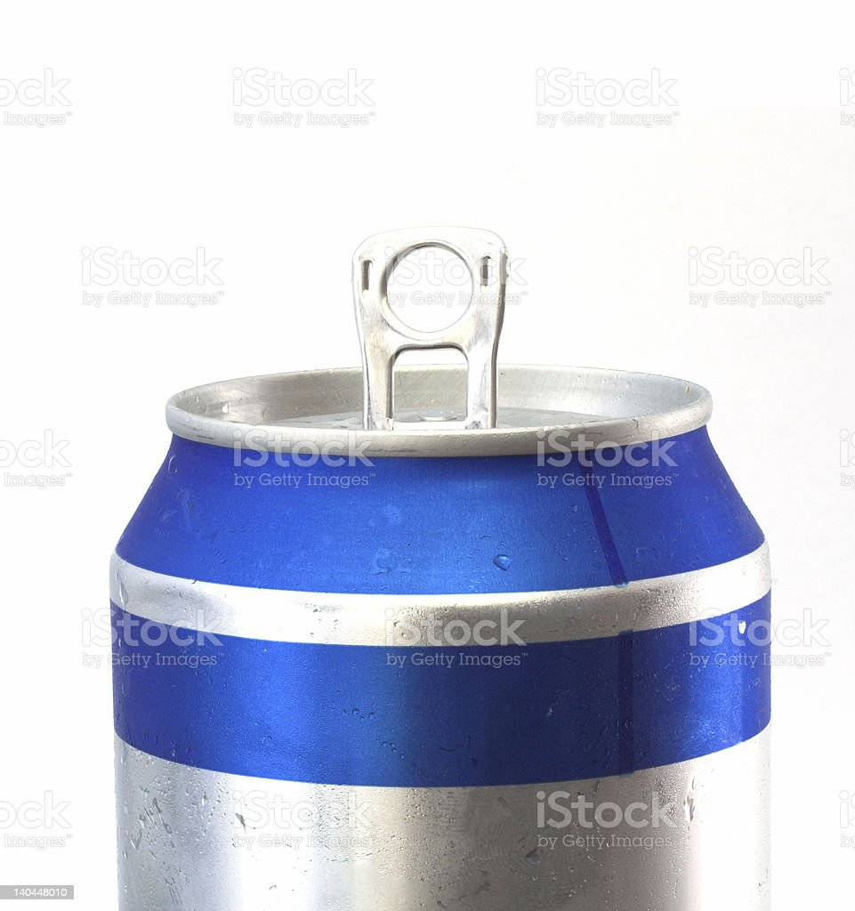 close up beer can stock photo