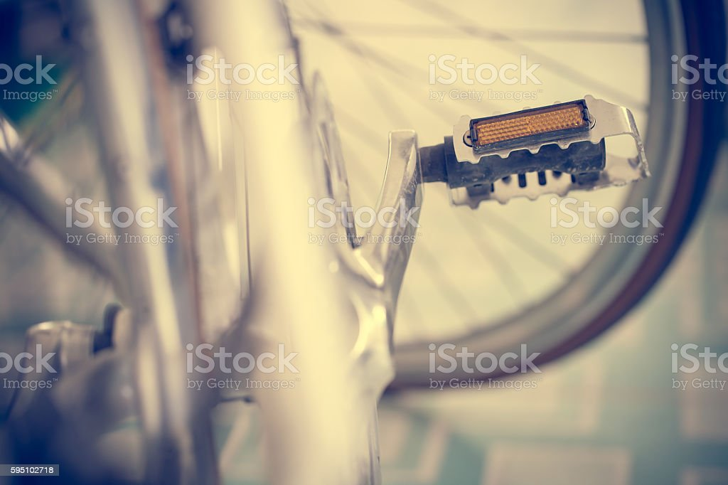 Close up bicycle vintage style stock photo