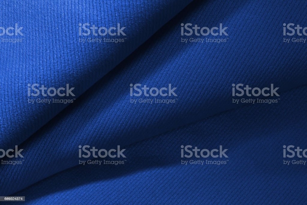 Close up blue fabric texture stock photo