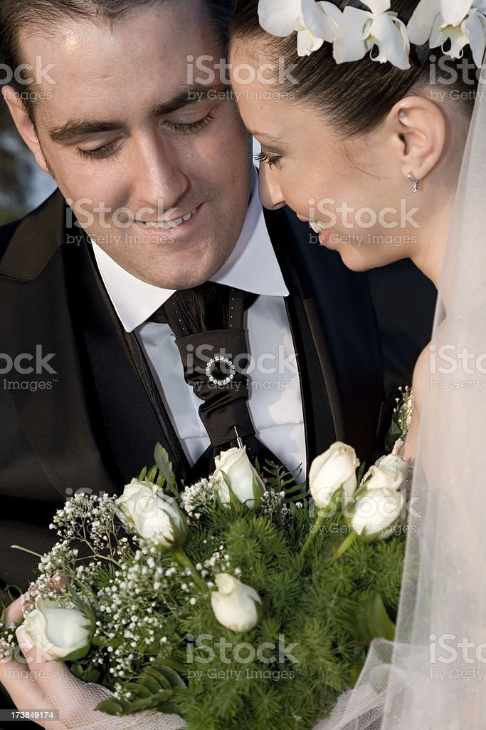 Close up bride and groom royalty-free stock photo