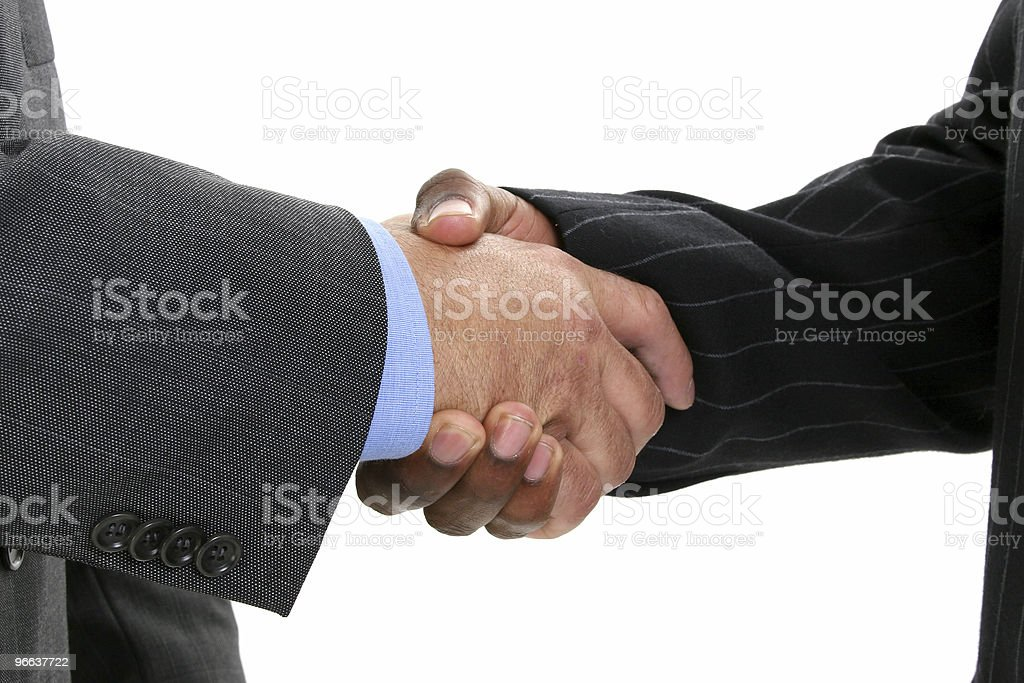 Close Up Businessmen Shaking Hands royalty-free stock photo