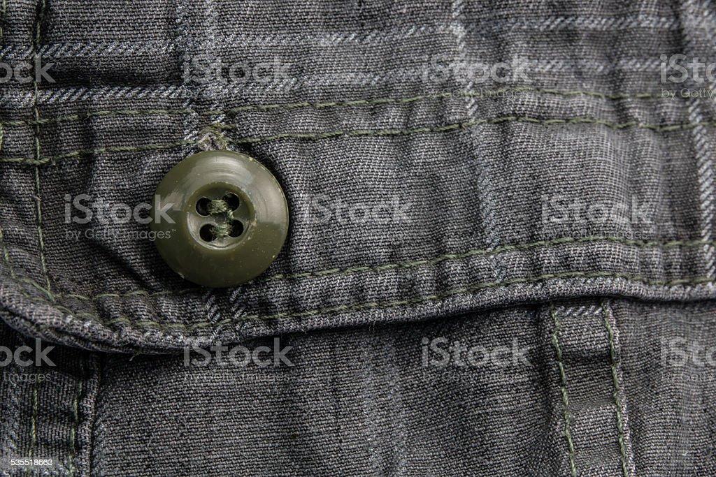 Close up clasper on black shorts. stock photo