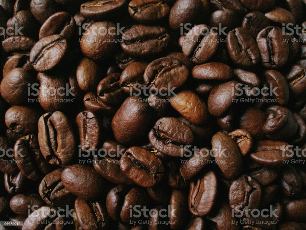 Close Up Coffe Beans royalty-free stock photo
