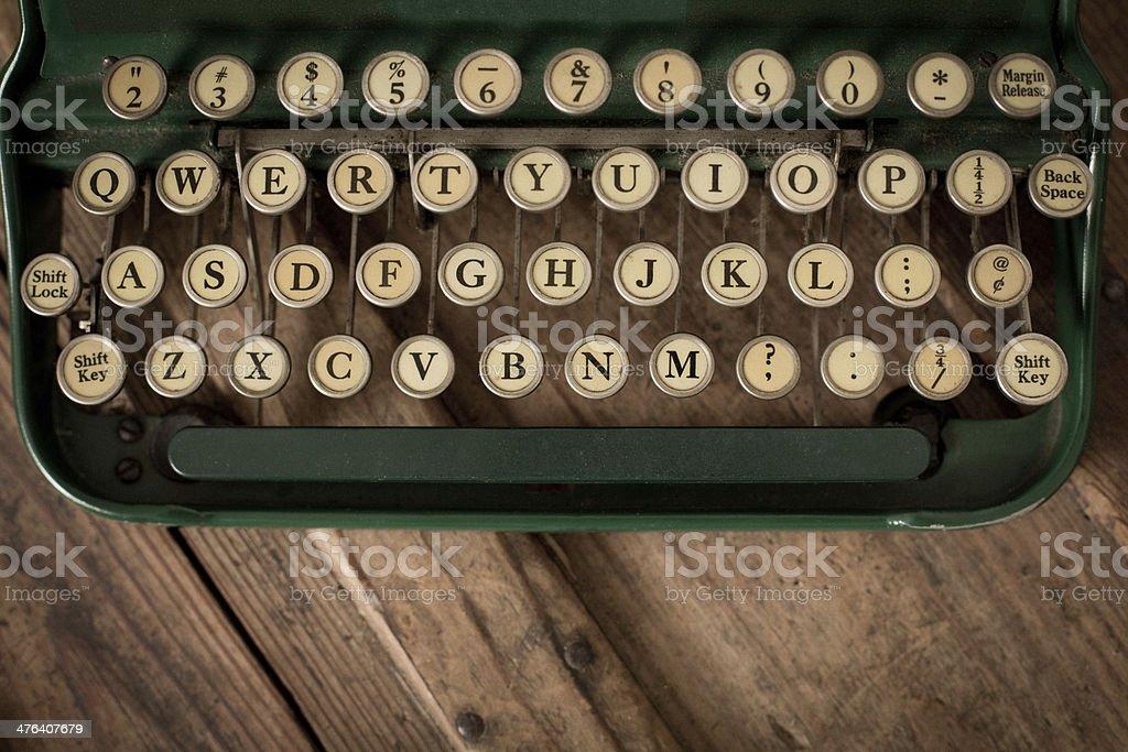 Close Up, ColorImage of Vintage Typewriter Keys stock photo