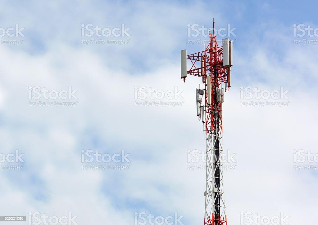 Close up Communication Tower stock photo