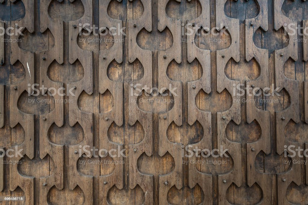 Close up craved wood Thai style stock photo
