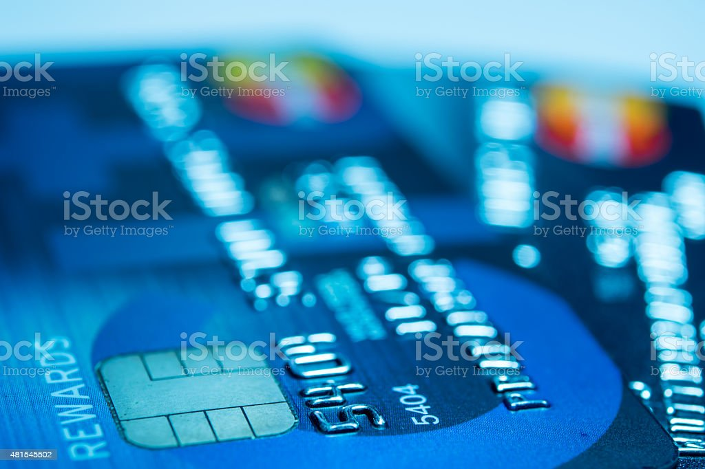 close up Credit Card stock photo