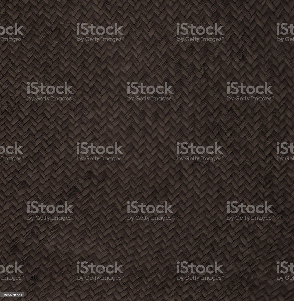 Close up dark brown woven rattan backgrounds stock photo