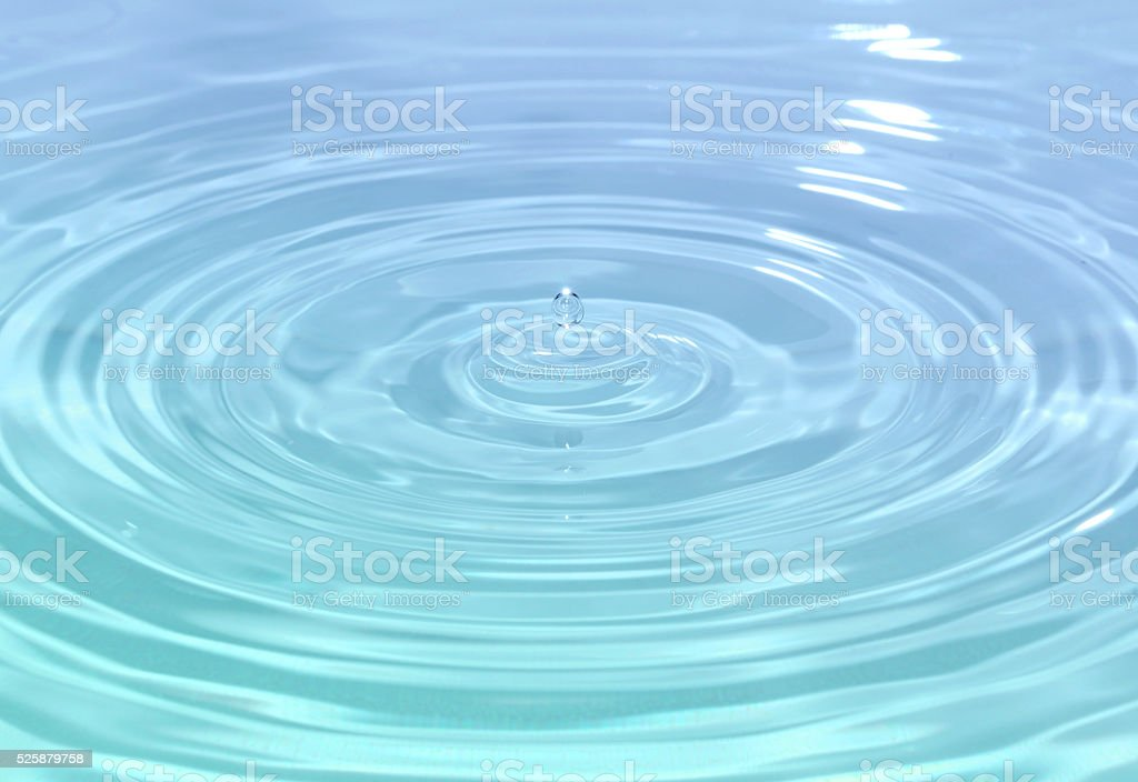 Close up detail of a droplet of water stock photo