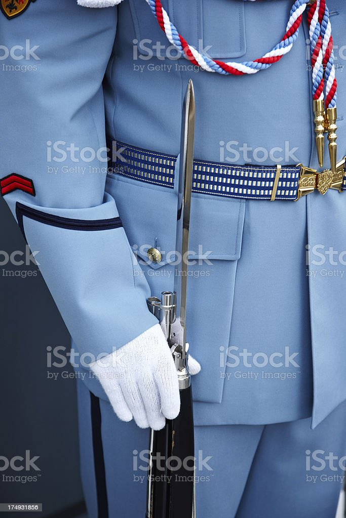Close up detail of Czech Republic military uniform royalty-free stock photo