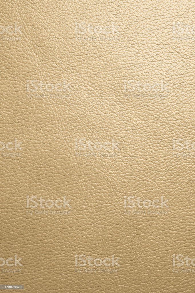Close up detail of white leather in vertical view stock photo
