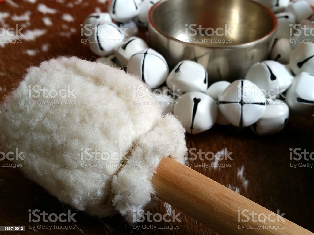 Close up drum mallet stock photo