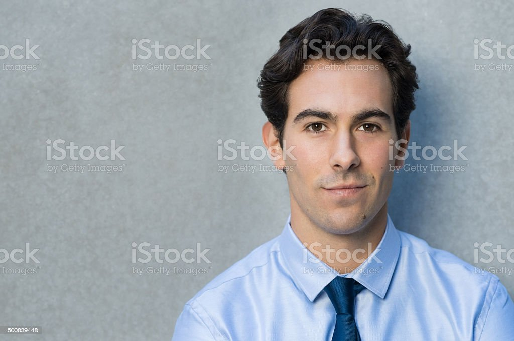 Close up face of a business man stock photo