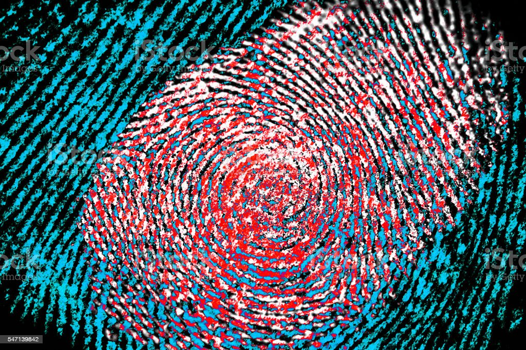 close up fingerprint stock photo