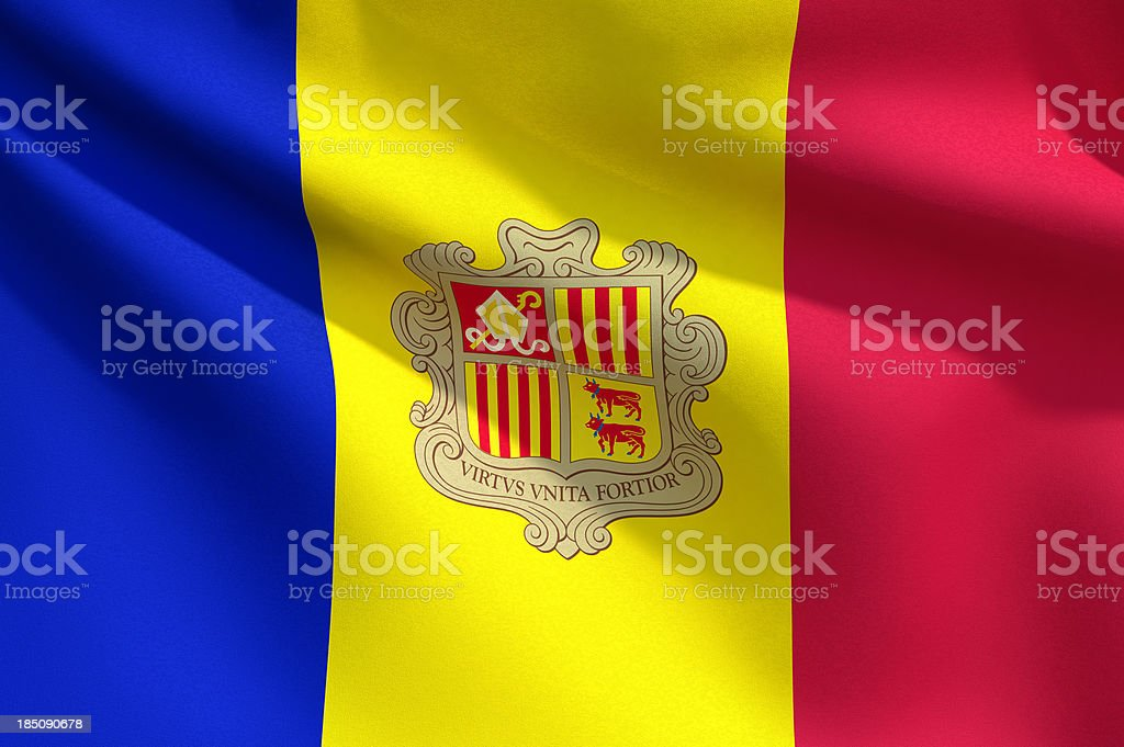 Close Up Flag - Andorra stock photo