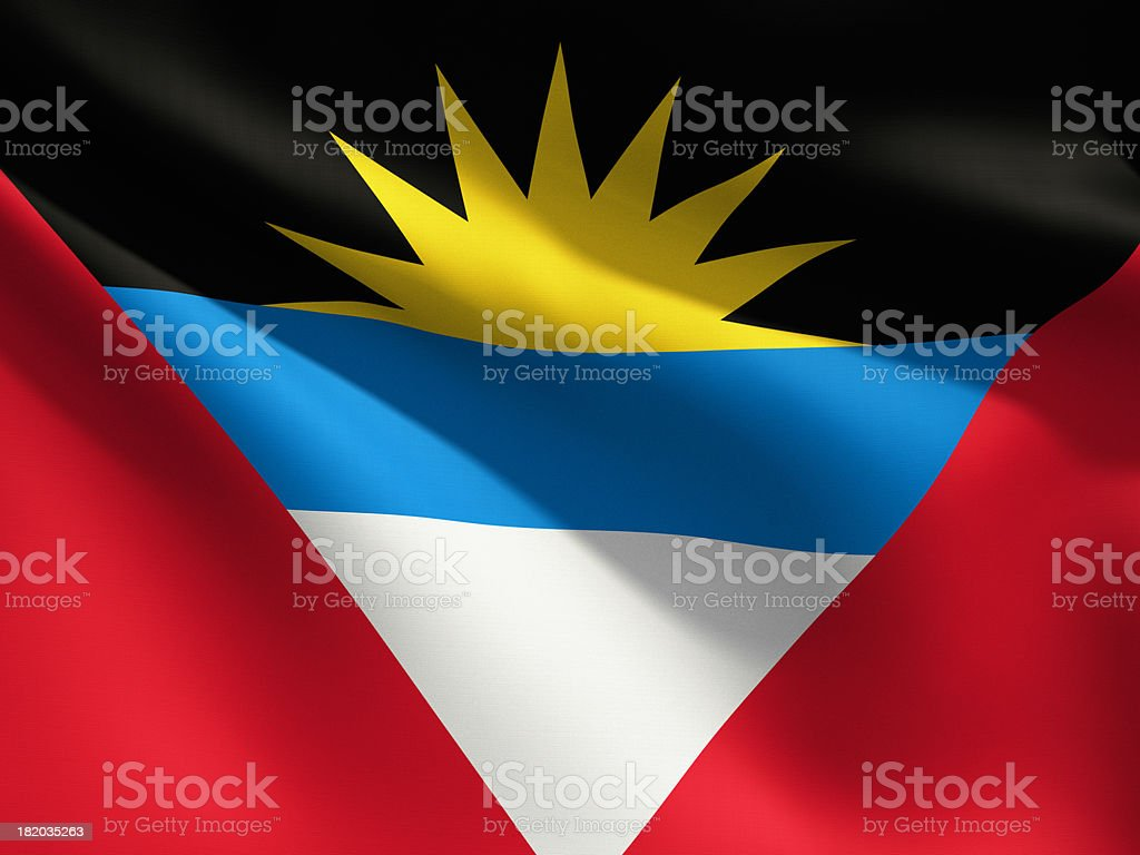 Close Up Flag - Antigua & Barbuda stock photo