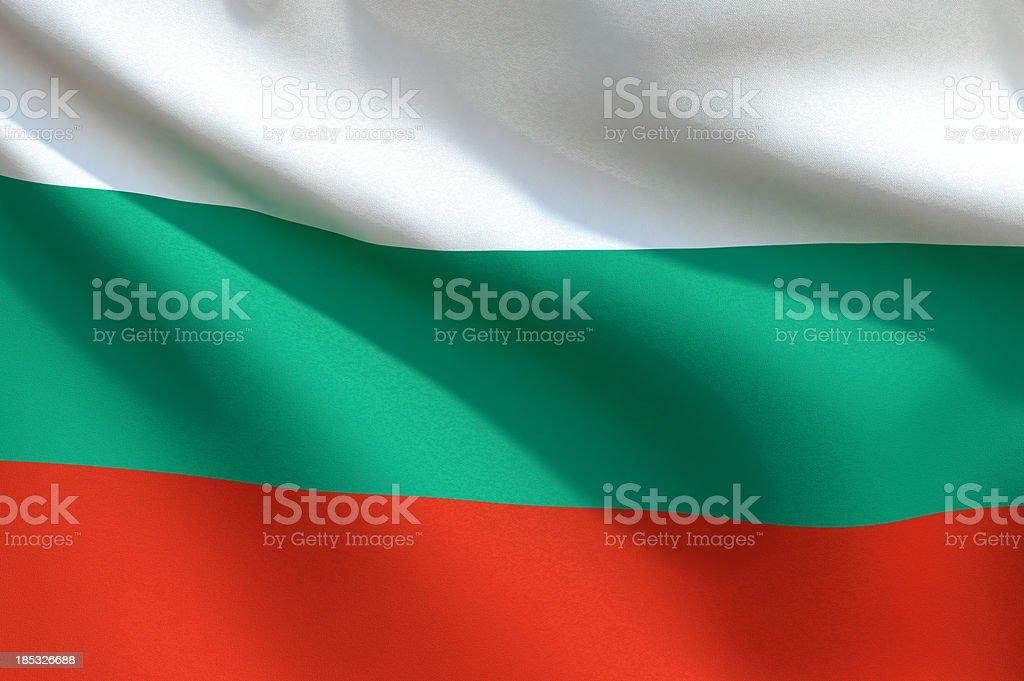 Close up Flag - Bulgaria stock photo