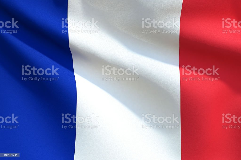 Close up Flag - France stock photo