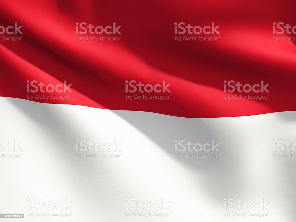 Close Up Flag - Indonesia stock photo