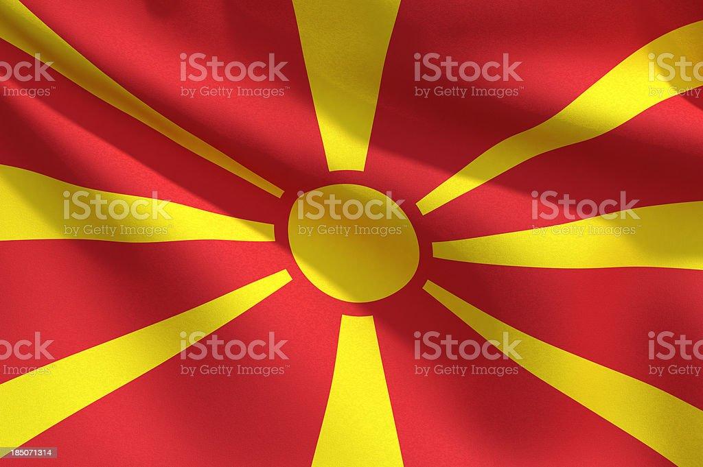 Close Up Flag - Macedonia stock photo