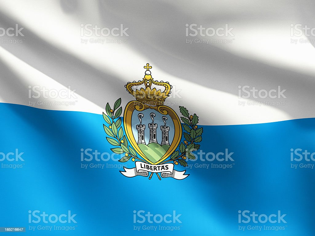 Close Up Flag - San Marino stock photo