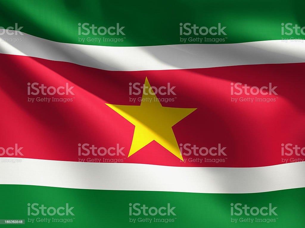 Close up Flag - Suriname stock photo
