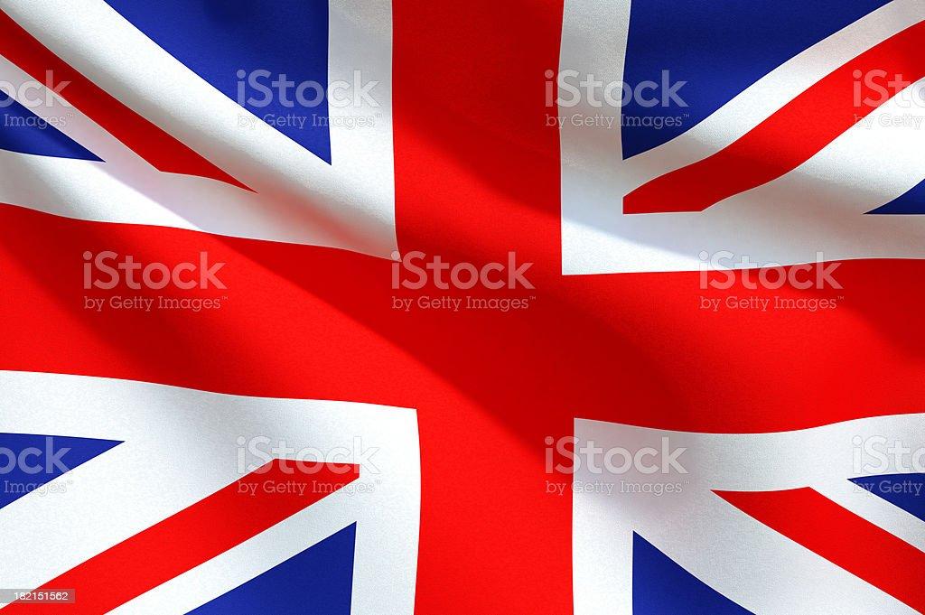 Close up Flag - United Kingdom royalty-free stock photo