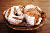 close up fresh breads