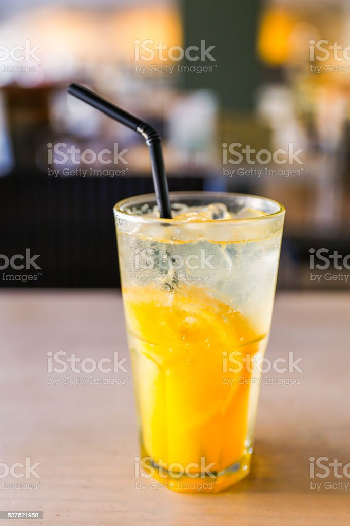 Close up fresh citrus juice stock photo