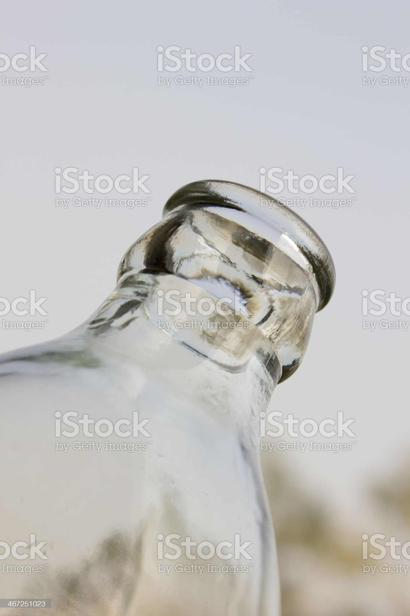 Close up glass bottle royalty-free stock photo