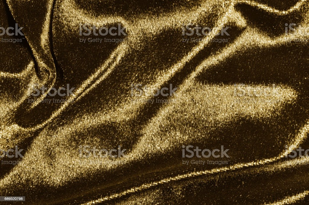Close up gold flannel texture stock photo