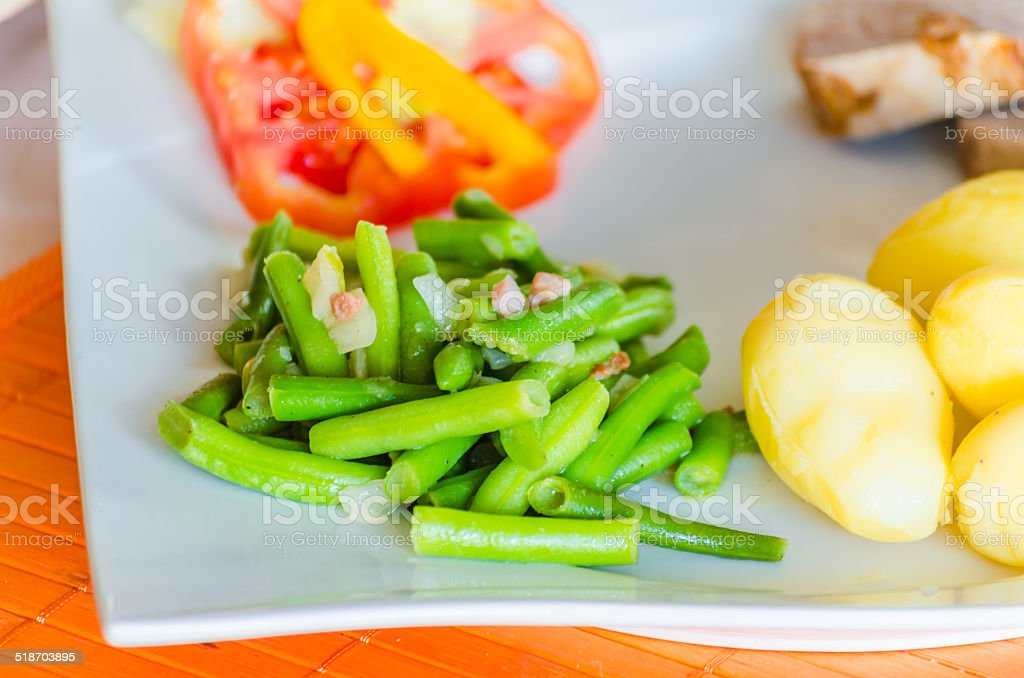 Close up, Green Beans stock photo