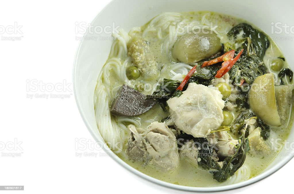 close up  green chicken curry royalty-free stock photo