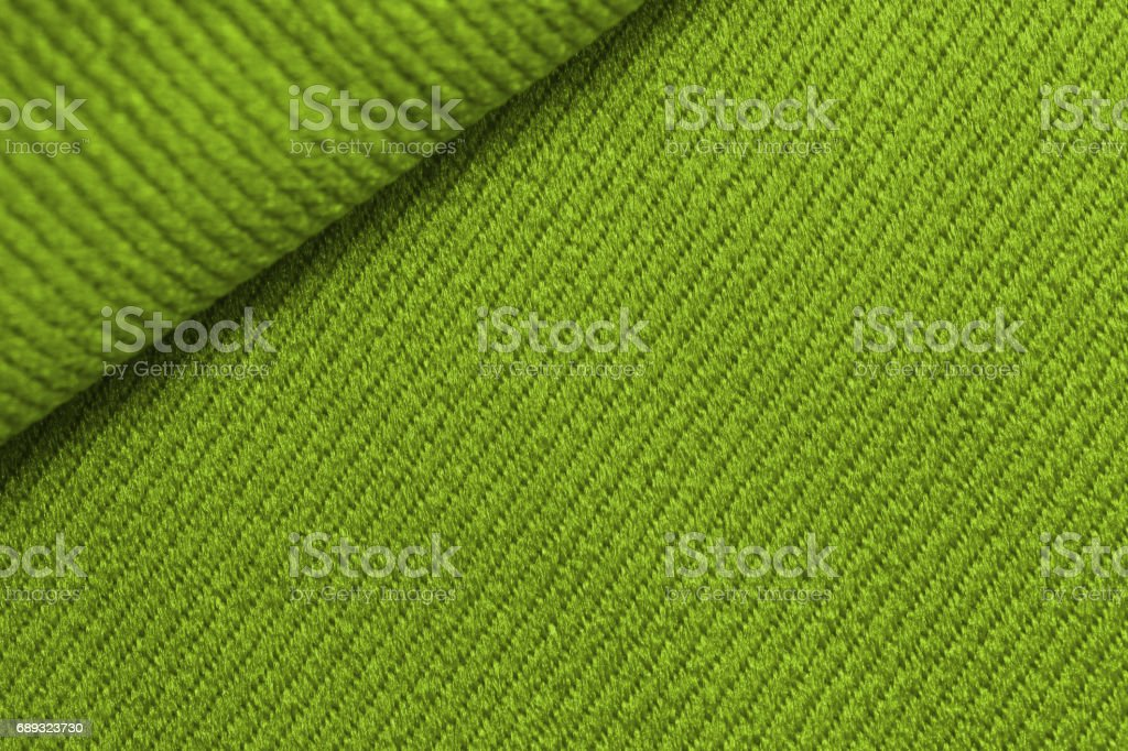 Close up green fabric texture stock photo