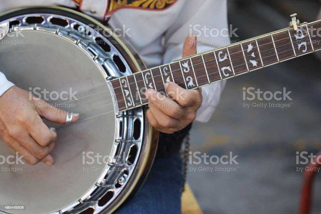 Close up guitar cowboy stock photo